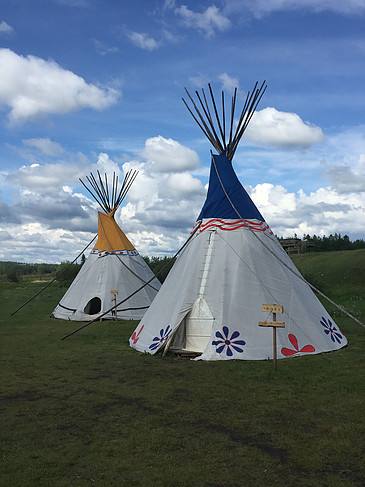 Group of Teepees at the National Historic Site